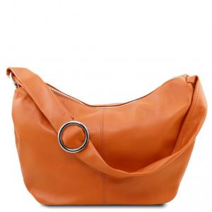 Tuscany Leather TL140900 Yvette - Leather hobo bag Cognac