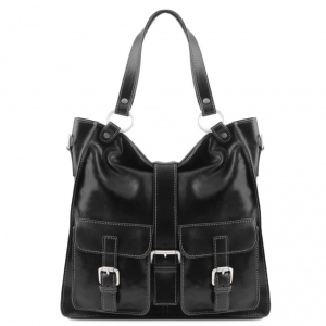 Tuscany Leather TL140928 Melissa - Lady leather bag Black