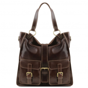 Tuscany Leather TL140928 Melissa - Lady leather bag Dark Brown