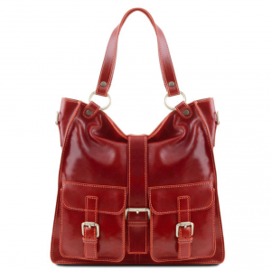 Tuscany Leather TL140928 Melissa - Lady leather bag Red