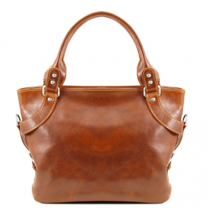 Tuscany Leather TL140899 Ilenia - Leather shoulder bag Honey