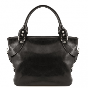 Tuscany Leather TL140899 Ilenia - Leather shoulder bag Black