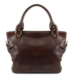 Tuscany Leather TL140899 Ilenia - Borsa a spalla Testa di Moro