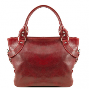 Tuscany Leather TL140899 Ilenia - Leather shoulder bag Red