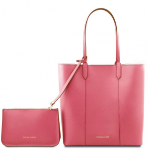 Tuscany Leather TL141709 Dafne - Sac shopping en cuir Vieux Rose