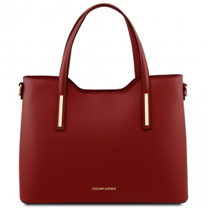 Tuscany Leather TL141412 Olimpia - Borsa shopper in pelle Rosso