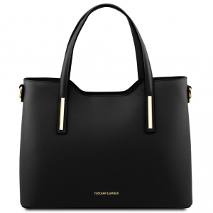 Tuscany Leather TL141412 Olimpia - Leather tote Black