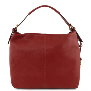 Tuscany Leather TL141719 TL Bag - Sac hobo en cuir souple Rouge