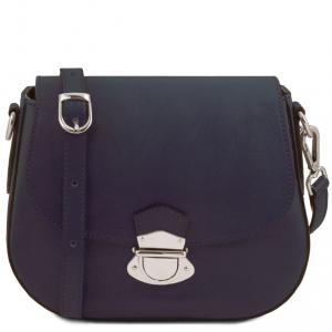 Tuscany Leather TL141517 TL Neoclassic - Sac bandoulière en cuir Bleu foncé