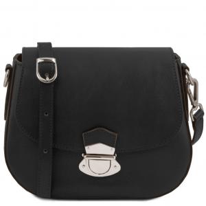 Tuscany Leather TL141517 TL Neoclassic - Sac bandoulière en cuir Noir