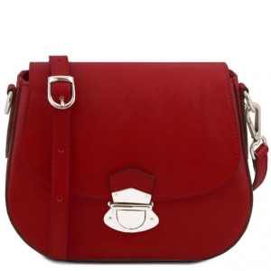 Tuscany Leather TL141517 TL Neoclassic - Leather shoulder bag Red