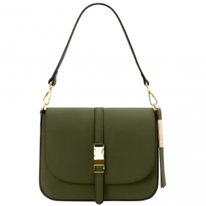 Tuscany Leather TL141598 Nausica - Leather shoulder bag Green