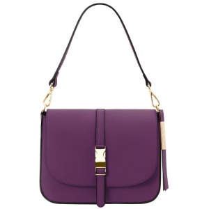 Tuscany Leather TL141598 Nausica - Leather shoulder bag Purple