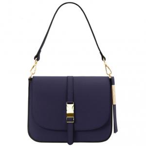 Tuscany Leather TL141598 Nausica - Sac bandoulière en cuir Bleu foncé