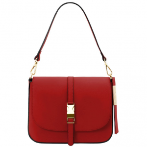 Tuscany Leather TL141598 Nausica - Sac bandoulière en cuir Rouge