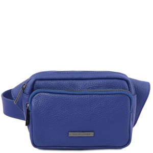 Tuscany Leather TL141700 TL Bag - Leather fanny pack Blue
