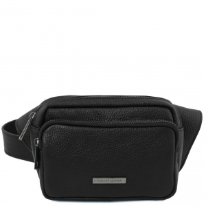 Tuscany Leather TL141700 TL Bag - Leather fanny pack Black