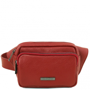 Tuscany Leather TL141700 TL Bag - Marsupio in pelle Rosso