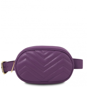 Tuscany Leather TL141699 TL Bag - Marsupio in pelle morbida Viola