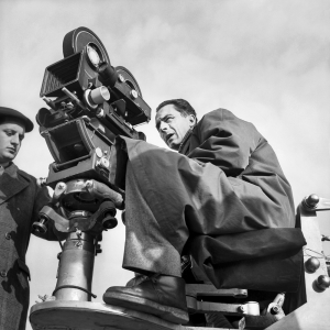 Michelangelo Antonioni sul set de Il grido, 1956