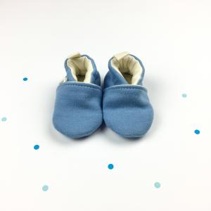 Scarpine neonato pervinca in cotone biologico