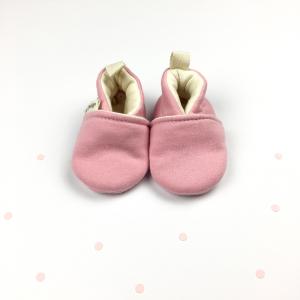 Scarpine neonato rosa in cotone biologico