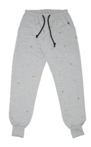 Pantalone tuta con piccole palme ricamate a mano. Loft1