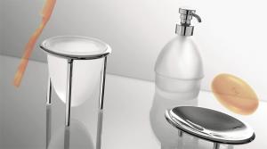 Porta sapone da appoggio per il bagno serie Khala Colombo design