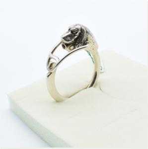 Portachiavi in argento 925 a forma di Cane Setter vendita on line | GIOIELLERIA BRUNI Imperia