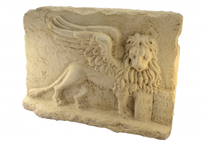 Marble Bas-Relief Lion Of St. Mark Hand-Carved Italian Craftsmanship