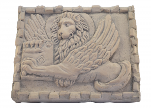 Marble Panel Hand Carved Saint Mark Lion Italian Craftsmanship