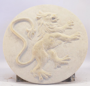 Lion Rampant Sculpture Hand Picturecarved Italian Craftsmanship