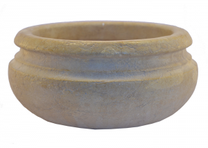 Marble Multipurpose Bowl Planter Hand-Carved Italian Craftsmanship