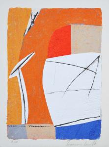 Cascella Tommaso, Dicembre, Serigrafia e collage, Form. cm 26x35