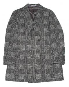 Cappotto in lana principe di galles. Verdera