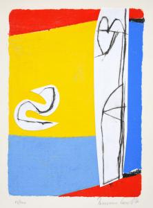 Cascella Tommaso, Giugno, Serigrafia e collage, Form. cm 26x35