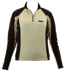 BRIKO Sweater Cycling For Woman Short Zip Technical Fabric Wing White Balck