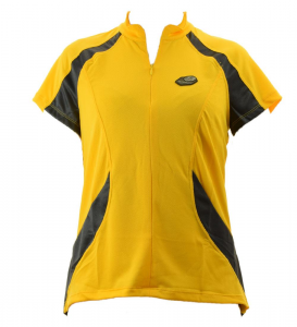 BRIKO T-Shirt Cycling/Spinning Woman Maxi Dry Half Zip Flow Yellow Black