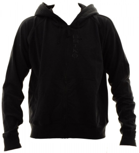 BRIKO Sweatshirt Man With Zip And Hood Zion Fitness Black Cotton