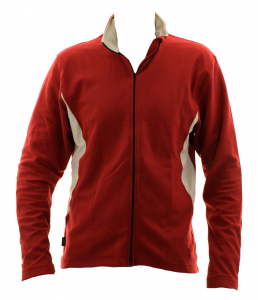 BRIKO Sweater Nordic Walking Man With Zip Kola X-C Red Microfleece