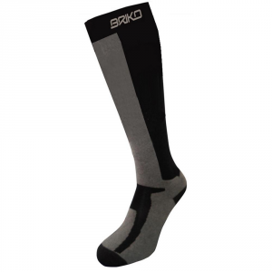 BRIKO Ski Winter Socks Unisex Thermolite Map Ski Thermo Black Silver