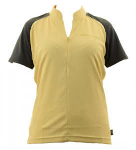 BRIKO T-Shirt Cycling/Spinning Woman With Half Zip Zion B-Concept Yellow Black