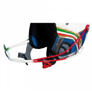 BRIKO Chin Protection Ski Helmet Chin Guard Phonex Italian Flag Red White Green