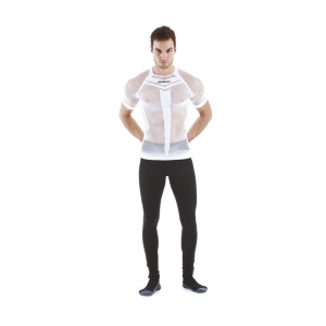 BRIKO T-Shirt Unisex Perforated Breathable Muscle Compression White