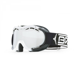 BRIKO Junior Downhill Ski Mask Antifog Treatment Jr Cup White Black