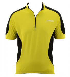 BRIKO T-Shirt Cycling/Spinning Man With Half Zip Duo Special 2 Yellow Black