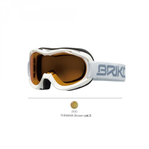 BRIKO Mask For Downhill Skiing With Antifog Lenses Junior Mini Beetle White