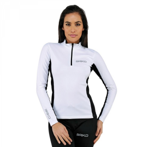 BRIKO Long Sleeve Sweater Women'S Multisport Lady Jersey White Black