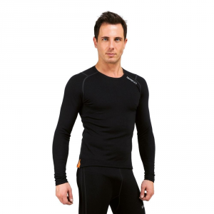 BRIKO Breathable Winter Long Sleeve Jersey Black Man Corewarm