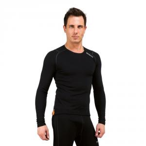 BRIKO Breathable Winter Long Sleeve Jersey Black Man Corelight